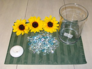 Step 1: Sunflower Centerpiece