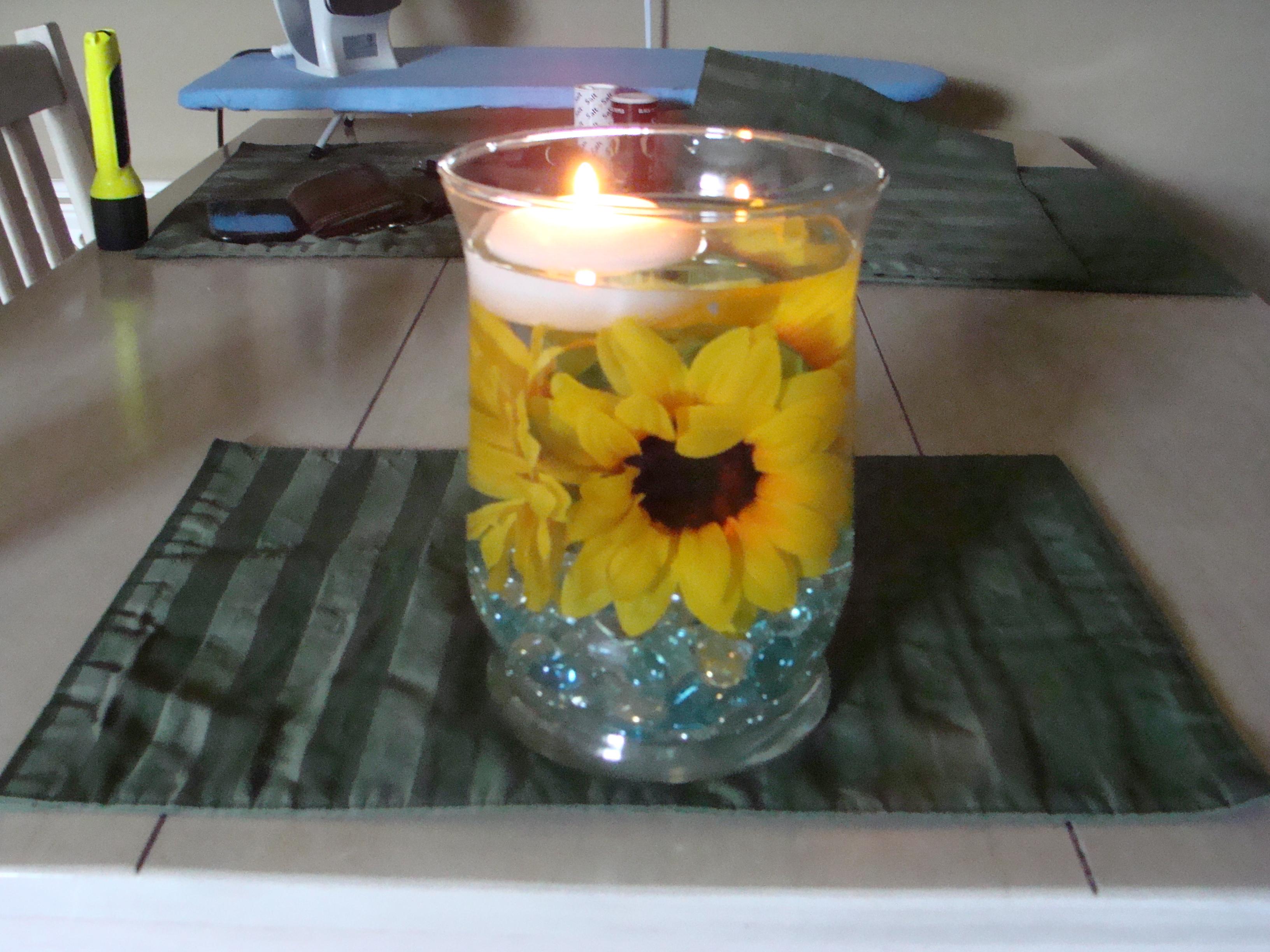 Sunflower centerpiece diyteaching